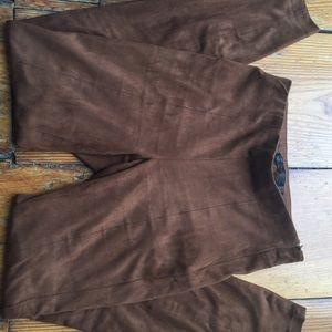 Zara faux suede brown leggings size Small